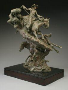 Wild Horses, Wilder Women {2} 39 ½' x 27 ½' x 17'