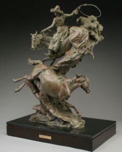 Wild Horses, Wilder Women {1} 39 ½' x 27 ½' x 17'